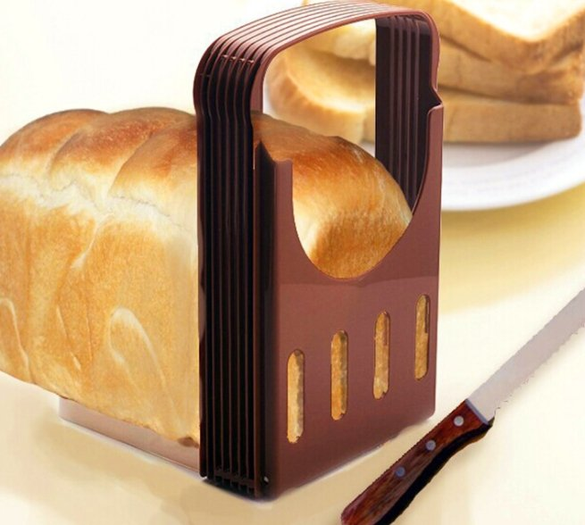 Practical Bread Cutter Loaf Toast Slicer Cutting Slicing Guide Kitchen Tool Random Color Brotschneider Pan de corte - My Kitchen Cove