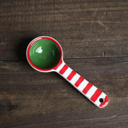 Red and green striped tea spoon - My Kitchen Cove