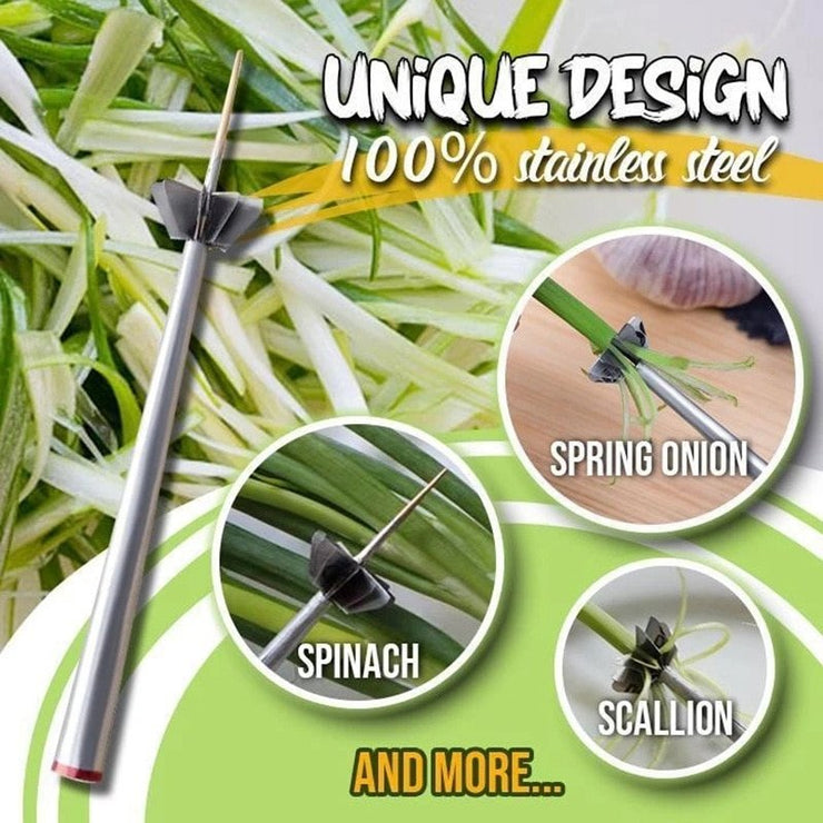 Scallion Cutter Stainless Steel Plum Blossom Onion Cutter - My Kitchen Cove