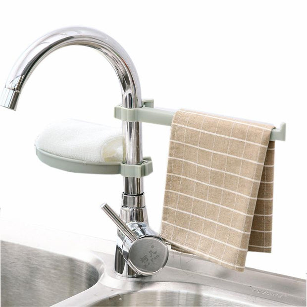 Sink Sponge Rag Drain Rack - My Kitchen Cove