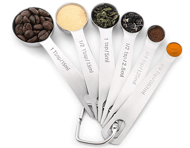 Stainless steel kitchen seasoning measuring spoons - My Kitchen Cove