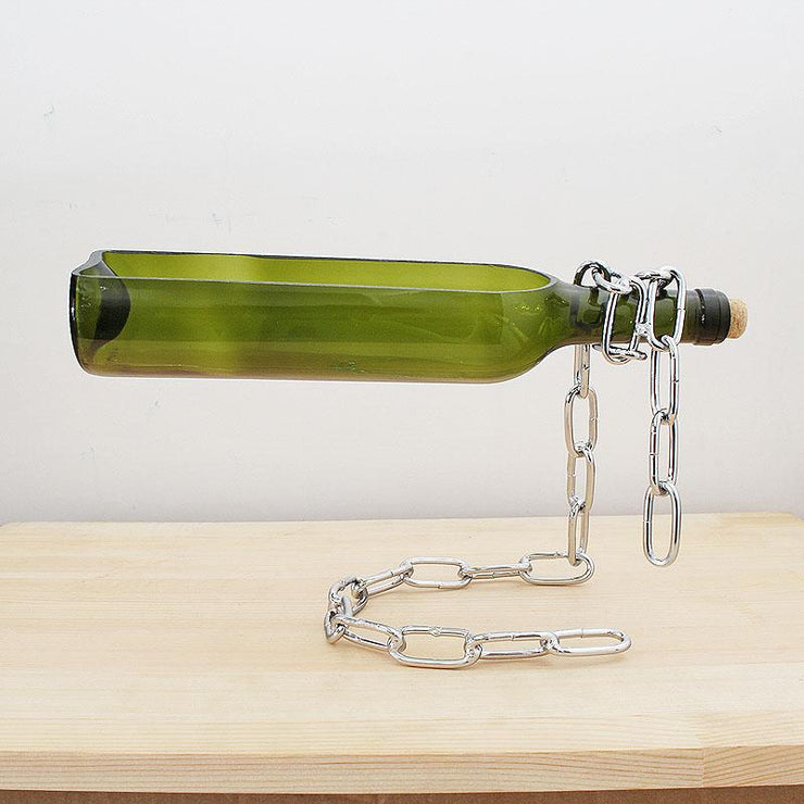 Suspended wine bottle decoration - My Kitchen Cove