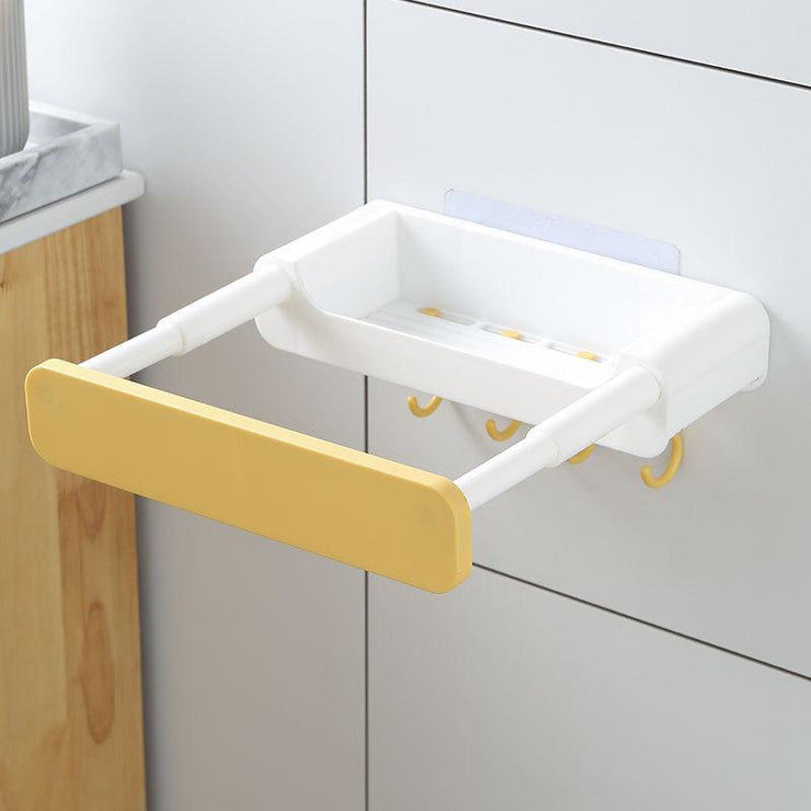 Telescopic hidden toilet rack without punching - My Kitchen Cove