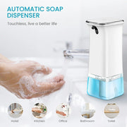 Touchless Automatic Soap Dispenser Hand Sanitizer Refillable Clear base - My Kitchen Cove