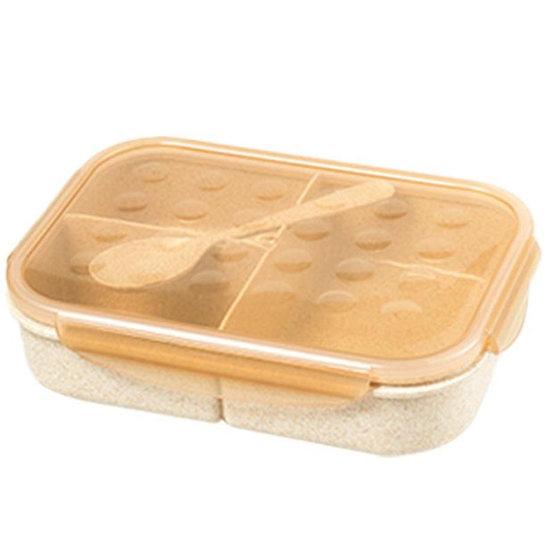Wheat Preservation Divided Lunch Box Bento Box - My Kitchen Cove
