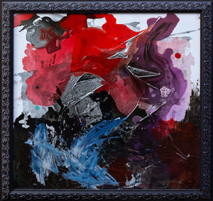 'The Safety Painting' - original abstract resin painting