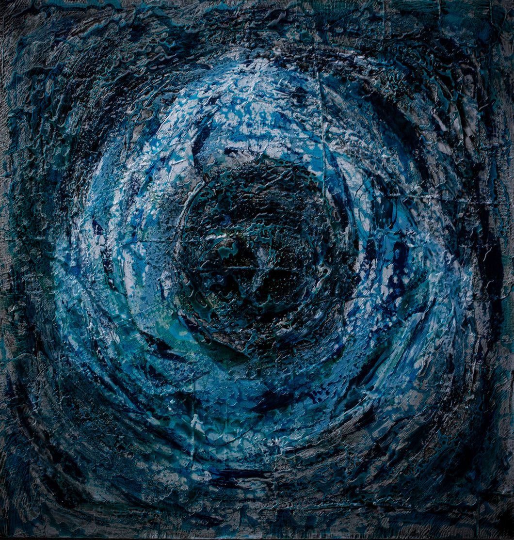 'Vortex' - original abstract resin painting