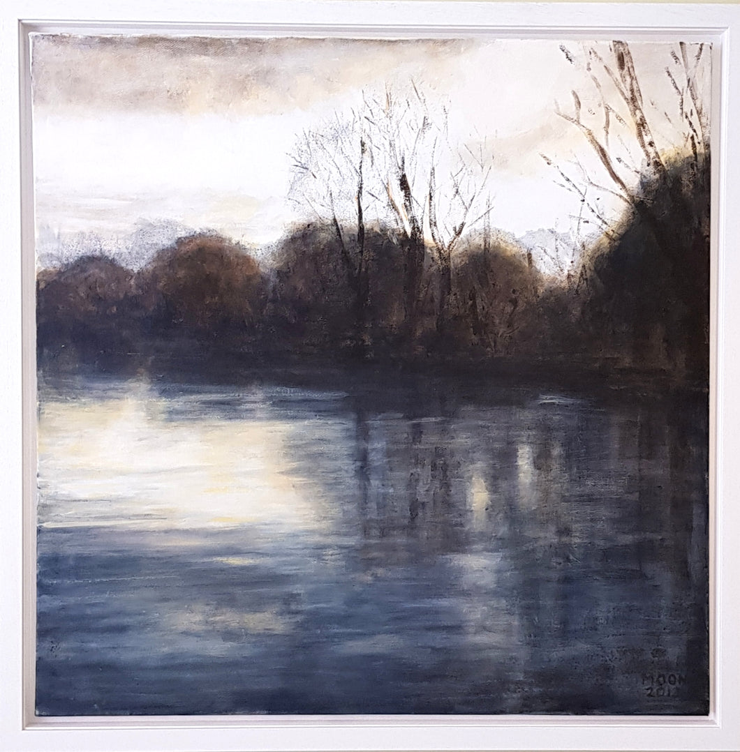 'Winter, River Dee' - original acrylic painting