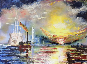 'The Fighting Temeraire Inspiration' - original oil painting