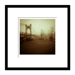 'Chester Fog, Suspension Bridge' photographic Giclee print