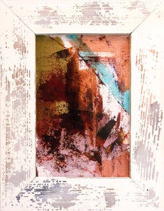 'Diamonds and Rust' - original abstract resin painting