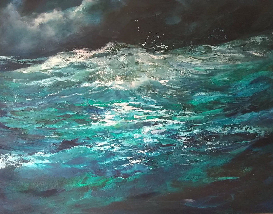 'In The Deep' - original oil painting on canvas