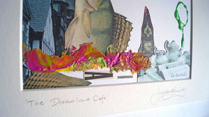 'The Dreamland Cafe' mixed media piece