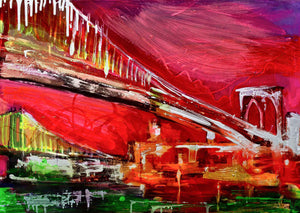 'Reclaim the Bridge' - original abstract resin painting