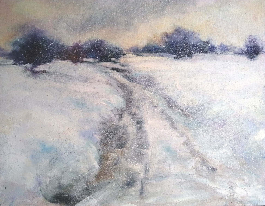 'Snow Drift' - original oil painting on board
