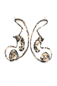 'Eyes on Me' Handmade Earrings - Swirl Design