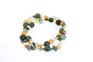 Mixed Gems Forest Necklace