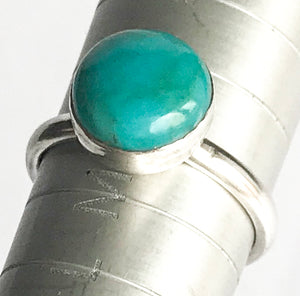 Sterling Silver Turquoise Ring Size N