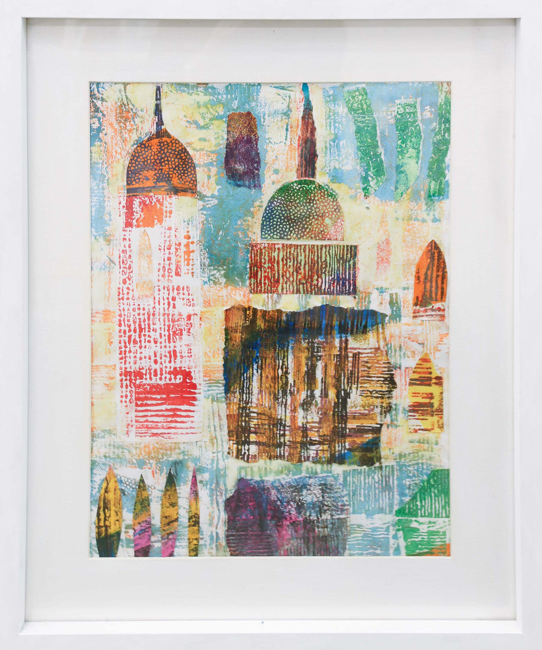 'Italian Cathedral' - original collage with acrylics on paper