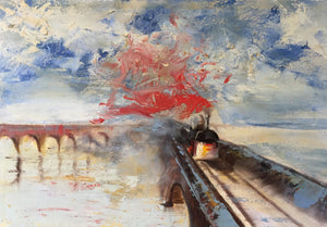 'Rain, Steam and Speed' - original oil painting