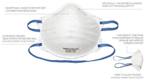 N95 NIOSH Respirators (9500 Comfort Series)