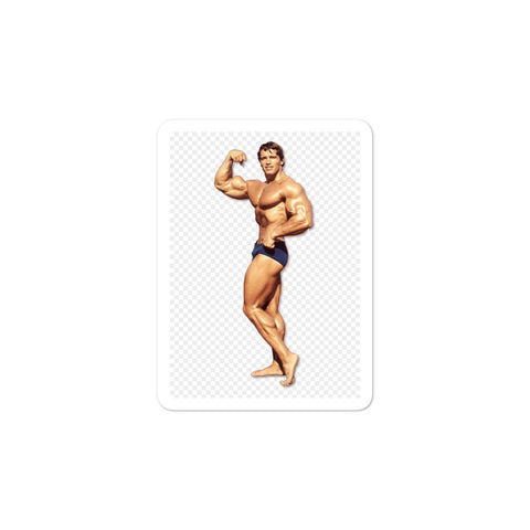 Arnold Schwarzenegger Body Building Sticker