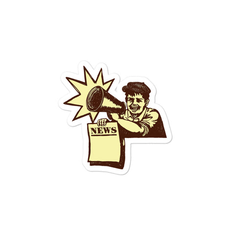 Newsboy Sticker