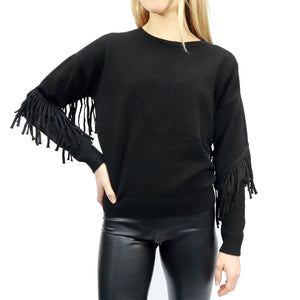 RD Style Fringe Knit Sweater