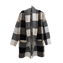 Load image into Gallery viewer, RD knit plaid cardigan