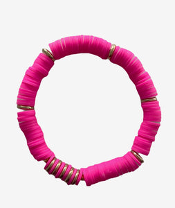 Spirited Muse Disc Bracelet, Hot Pink