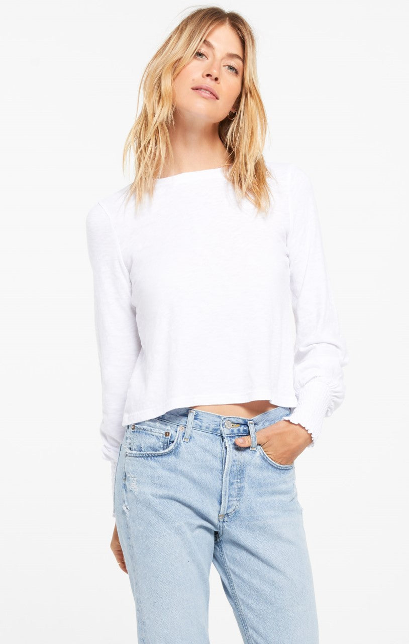 Z Supply Lyla Long Sleeve Top, White