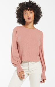 Z Supply Lyla Long Sleeve Top, Blush