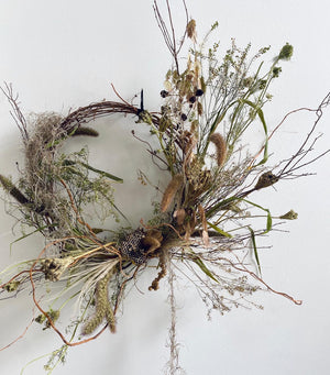 dried wreath: natural colors + textures