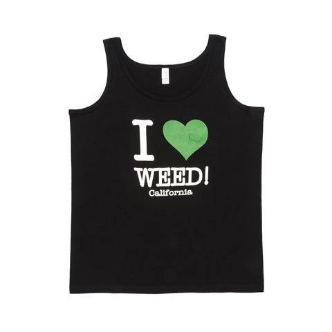 I Love Weed Ladies' Black Tank