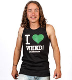 I Love Weed Men's Black Tank