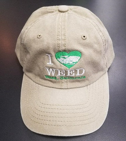 I Love Weed Washed Cap