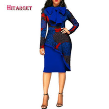 Load image into Gallery viewer, 2020 africa style women dress elegant Dashiki Long Sleeve Plus Size Bazin Riche African Traditions Contton Print Dresses WY2573