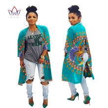 Load image into Gallery viewer, 2020 African Fashion Autumn Plus Size  Women Trench Coat Traditional African Wax Print Clothing Dashiki Casual Outwear WY394