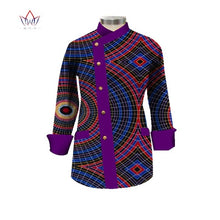 Load image into Gallery viewer, 2020 Fashion African Short Coat Print Wax Dashiki Outfits For Women Bazin Rich Africa Plus Size Top African Women Clothes WY1710