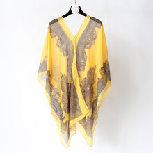 Load image into Gallery viewer, YRRETY Vintage Women Plus Size Blouses Fashion Print Chiffon Blouse Tops Summer Sunscreen Shirt Casual Loose Women Clothes 2020