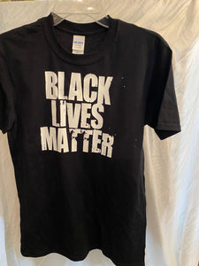Black Lives Matter T-Shirt White Grind
