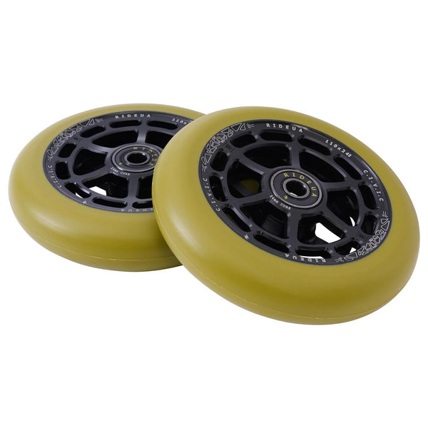 urbanArtt Civic 110 x 24mm Wheels - Black/Army Green