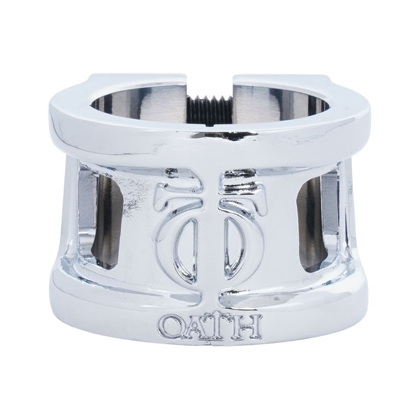 Oath Cage V2 Alloy 2 Bolt Clamp Neo Silver