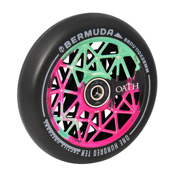 Oath Bermuda 110mm Wheels Green/Pink/Black