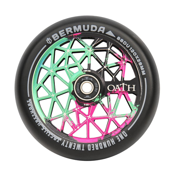 Oath Bermuda 120mm Wheels Green/Pink/Black
