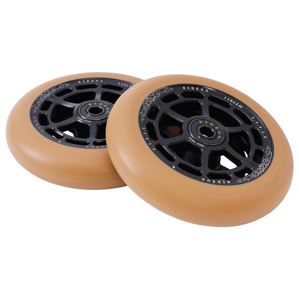 urbanArtt Civic 110 x 24mm Wheels - Black/Gum