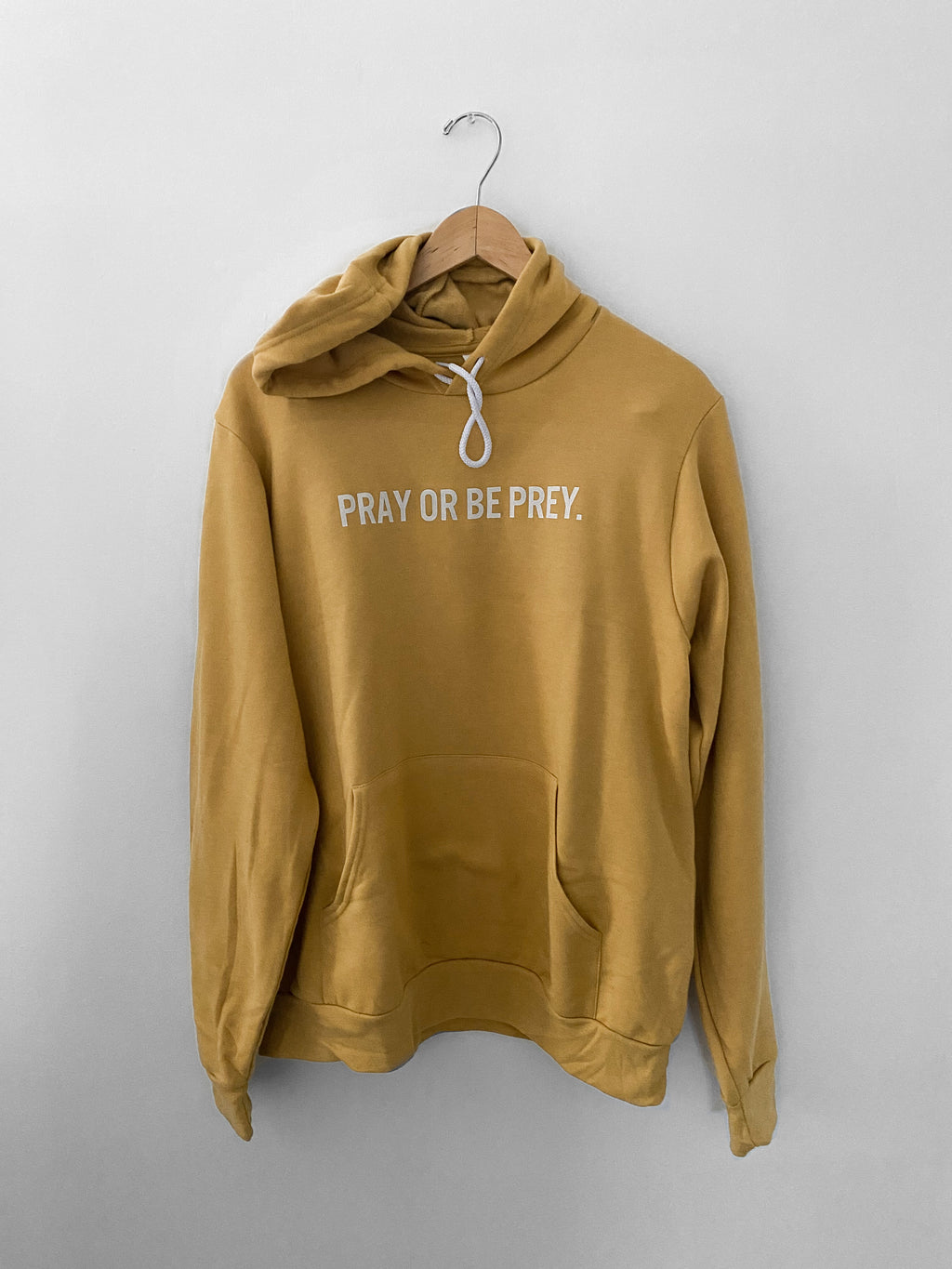 Pray or Be Prey Hoodie - Yellow