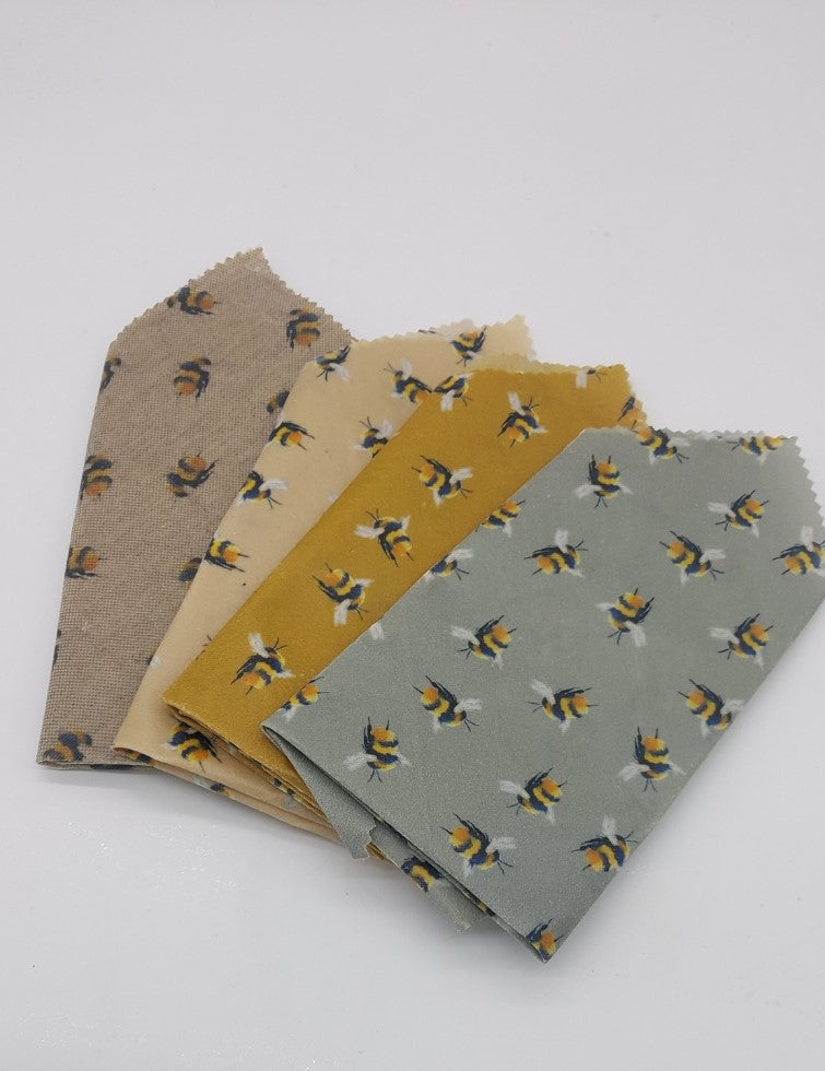 4pck 30cm x 30cm beeswax food wrap