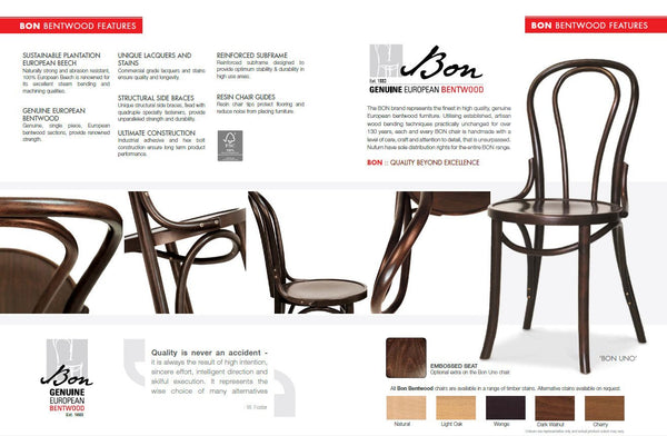 Icon - Bon Bentwood Side Chair - Dark Walnut - Restaurant and Cafe Chair