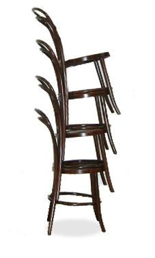 stackable bentwood chair - bon uno